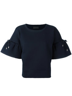 футболка с завязками на рукавах Diesel Black Gold