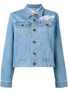 джинсовая куртка с аппликацией Kenzo