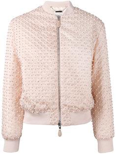 куртка-бомбер с отделкой жемчужинами Givenchy