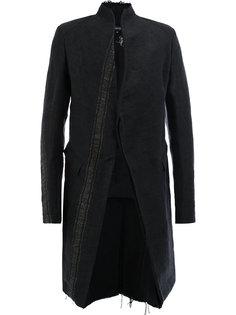 пальто с фактурной вставкой  Cedric Jacquemyn