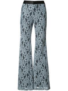 расклешенные брюки с вышивкой Alexis