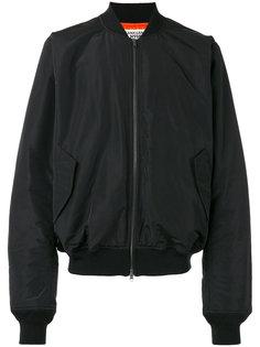 rear print bomber jacket Sankuanz