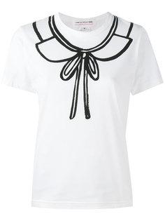 футболка с принтом воротника Comme Des Garçons Girl