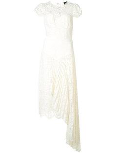 асимметричное кружевное платье Milly