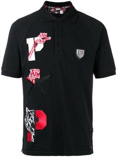футболка-поло с нашивками Plein Sport