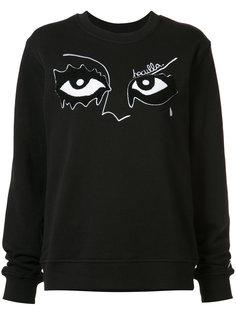 eye embroidered sweatshirt Haculla