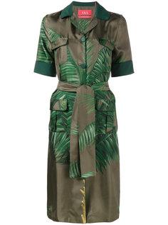 платье-рубашка с принтом листьев пальмы F.R.S For Restless Sleepers
