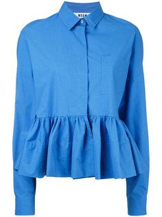 блузка с расклешенным краем  MSGM