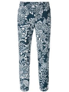 укороченные брюки с цветочным узором  Fay