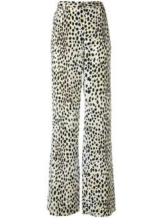 брюки-палаццо с леопардовым принтом  Roberto Cavalli