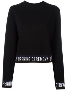 slogan trim sweatshirt Opening Ceremony