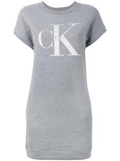 трикотажное платье с логотипом Calvin Klein Jeans