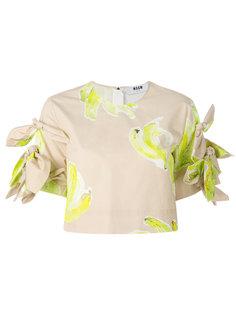 укороченная блузка с принтом бананов MSGM
