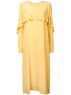платье шифт с оборкой N Duo