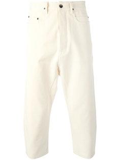 укороченные брюки с заниженной проймой Rick Owens DRKSHDW