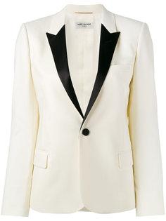 пиджак с контрастными лацканами Saint Laurent