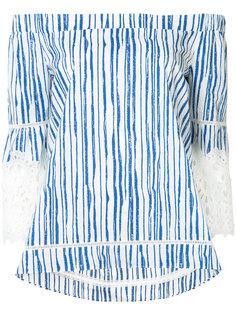 off shoulder striped blouse  Kobi Halperin