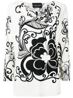 floral print top Giorgio Grati