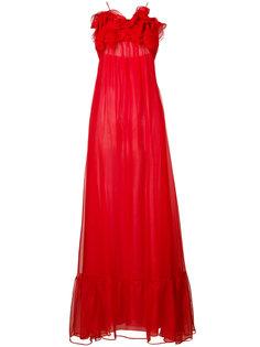 вечернее платье с оборками Daniele Carlotta