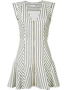 полосатое мини платье Veronica Beard
