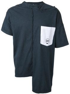 асимметричная футболка с открытой строчкой Liam Hodges