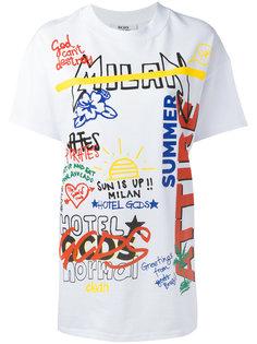 mixed print T-shirt  Gcds
