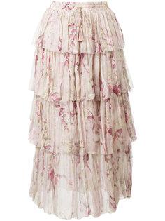 юбка с оборками Winsome  Zimmermann