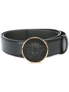 ремень с круглой пряжкой Medusa  Versace