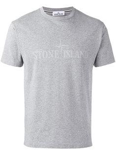 tonal logo print T-shirt Stone Island