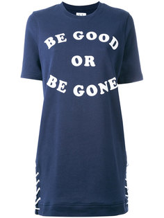 slogan print T-shirt dress Zoe Karssen