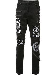 джинсы кроя слим с вышивкой Haculla