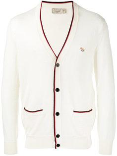 кардиган с V-образным вырезом Maison Kitsuné
