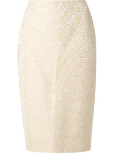 jacquard Judith pencil skirt Martha Medeiros