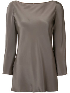 long-sleeve silk blouse  Peter Cohen