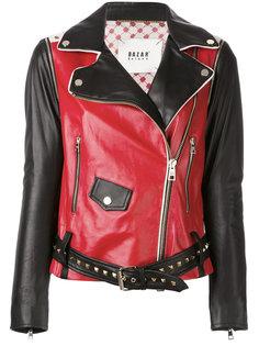байкерская куртка с контрастной отделкой Bazar Deluxe