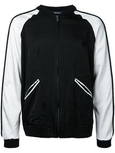 куртка-бомбер с контрастными вставками Christian Dada