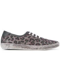 leopard print distressed trainers Marc Jacobs