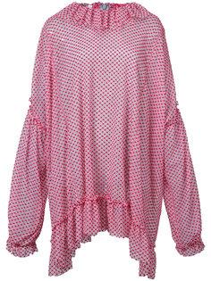 oversized ruffle trim blouse  Jourden