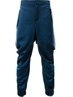 зауженные брюки с нитками по бокам Moohong