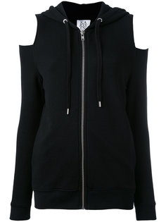 cut-out knees zipped hoodie Zoe Karssen