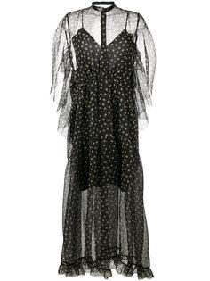 полупрозрачное платье в горошек Petar Petrov