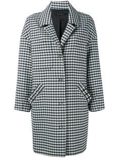 пальто в клетку с заниженной линией плеч  Mother Of Pearl