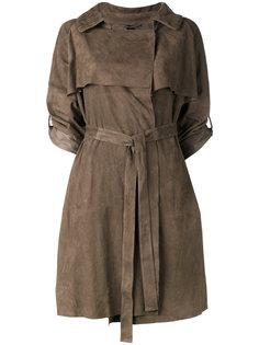 cropped sleeve belt coat Giorgio Brato