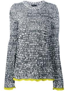 вязанный свитер с контрастной отделкой Joseph
