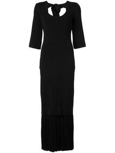 длинное платье с глубоким вырезом Josh Goot