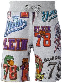 спортивные шорты с графическим принтом  Philipp Plein