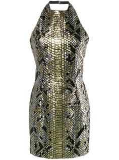 облегающее платье с пайетками Balmain