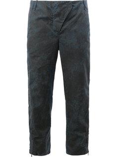 укороченные брюки с потертой отделкой Masnada