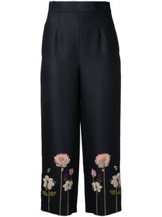 embroidered flower cropped trousers  Vilshenko