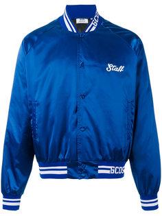университетская атласная куртка-бомбер  Gcds